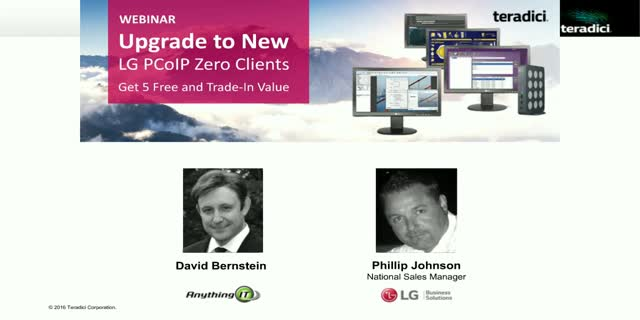 Upgrade to new supported LG PCoIP zero clients, get 5 free and trade-in value