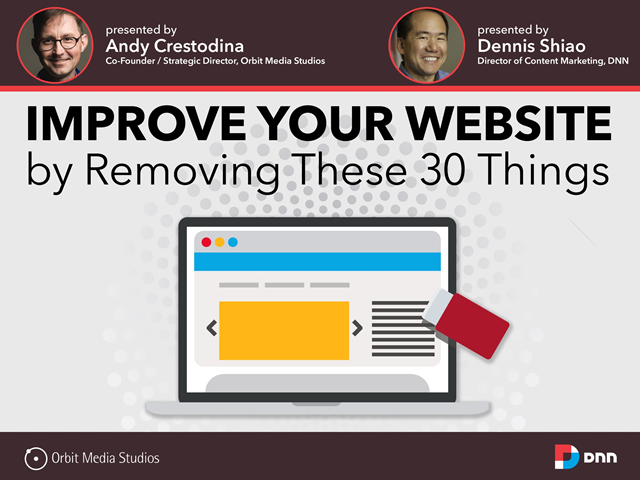 Improve Your Website by Removing These 30 Things