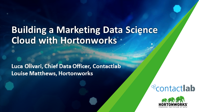 Building a Marketing Data Science Cloud with Hortonworks