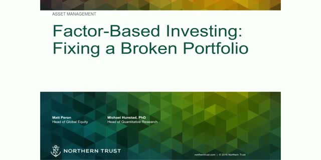 Factor-based investing: Portfolio construction that performs