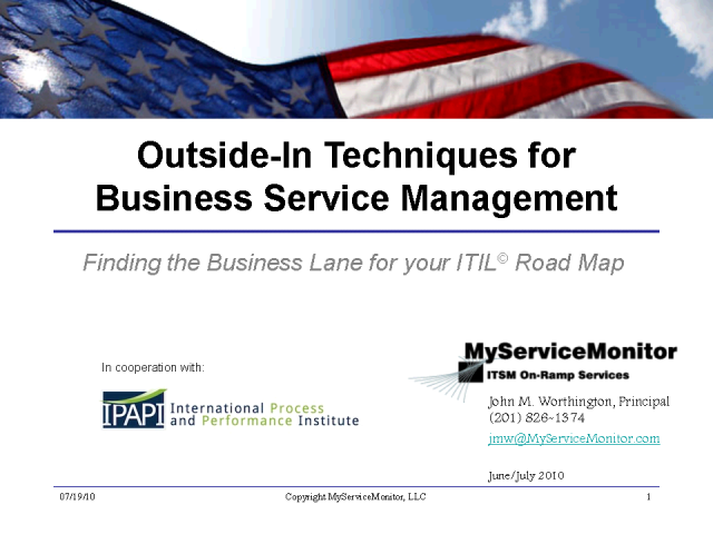 Outside-In Techniques for Business Process Management