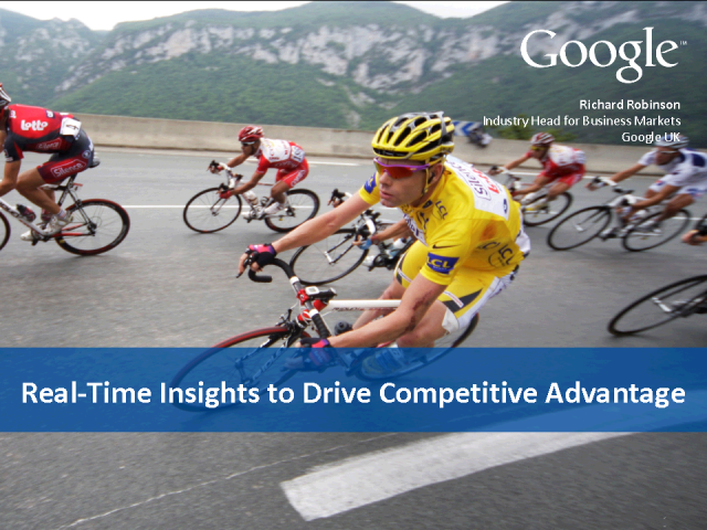 Real-time insights to drive competitive advantage