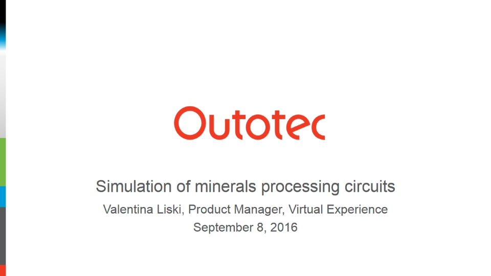 Simulation of minerals processing circuits
