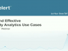 Fast and Effective IT Security Analytics Use Cases