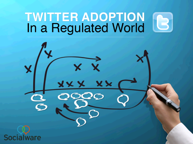 Twitter adoption in a regulated world