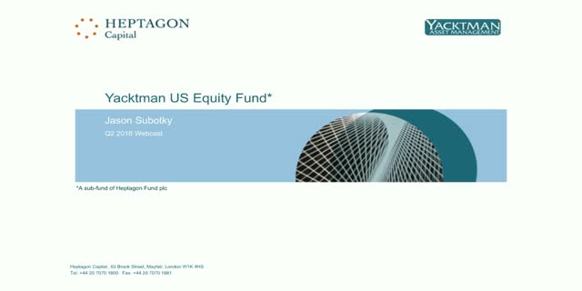 Yacktman US Equity Fund Q2 2016 Webcast