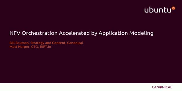 NFV Orchestration Accelerated by Application Modeling