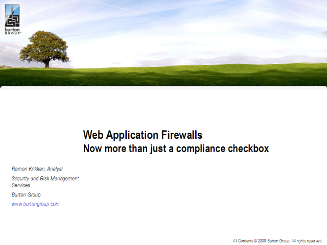 Web Application Firewalls: More than just a compliance checkbox?
