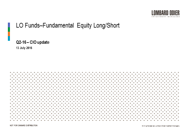 Quarterly update - LO Funds-Fundamental Equity Long/Short