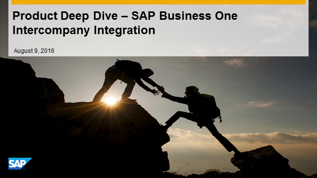 Deep Dive – SAP Business One Intercompany Integration