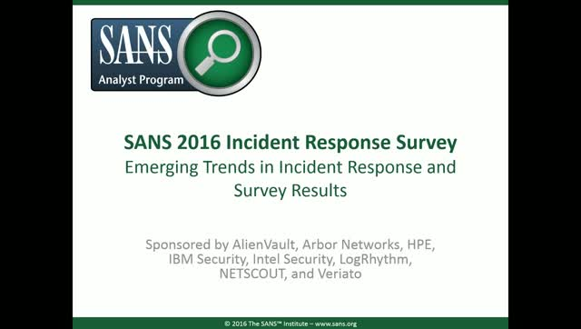 Emerging Trends in Incident Response