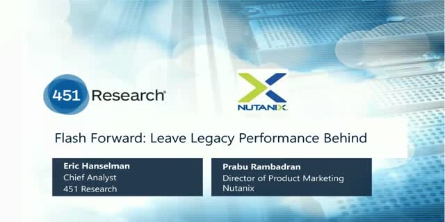 Flash Forward: Leave Legacy Performance Behind
