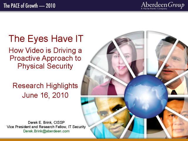 The Eyes Have IT: Driving a Proactive Approach to Video Security