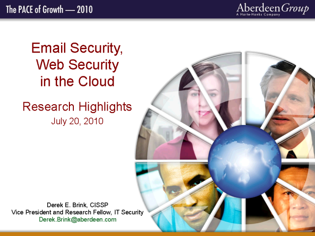 Email / Web Security in the Cloud: More Secure! Less Expensive!
