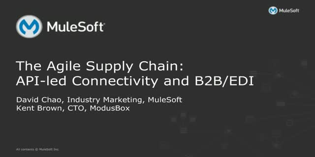 The Agile Supply Chain: API-led Connectivity and B2B/EDI