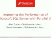 Improving the Performance of Microsoft SQL Server with Parallel I/O
