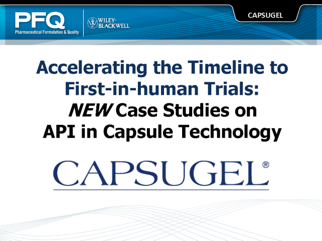 Accelerating the Timeline to First-in-human Trials