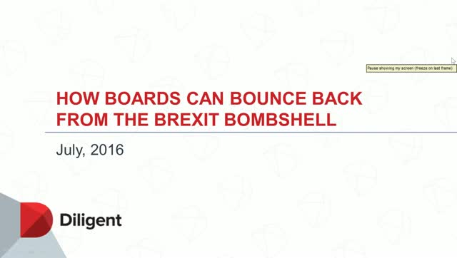 How Boards can Bounce Back from the Brexit Bombshell
