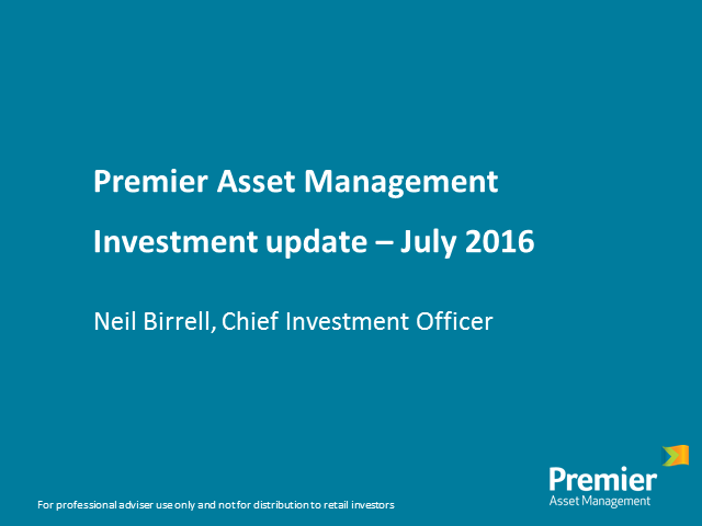 Premier Asset Management - Investment update