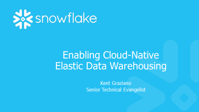 Enabling Cloud-Native Elastic Data Warehousing