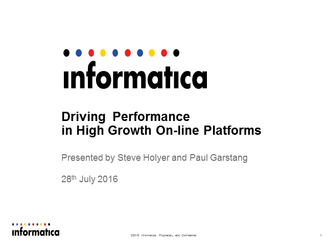 Driving Performance in Rapid Growth Online Platforms