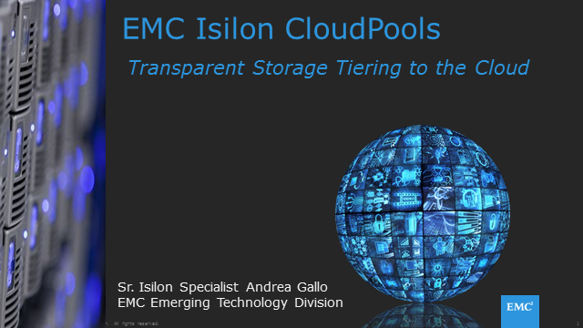 Isilon Cloudpools