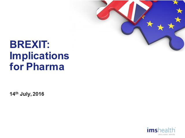 BREXIT: What's next for pharma?