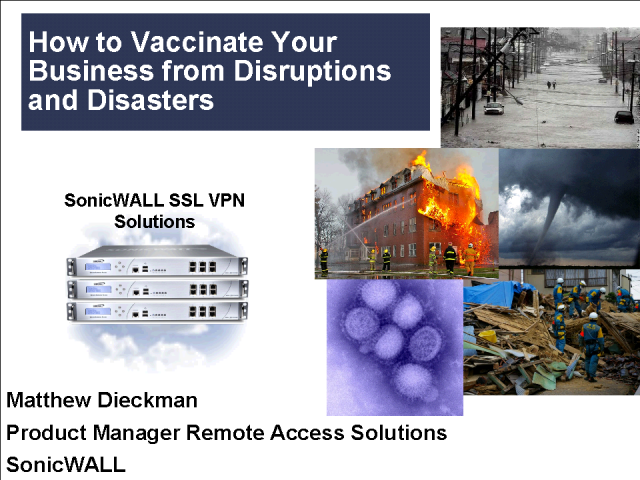 How to Vaccinate Your Business from Disruptions and Disasters