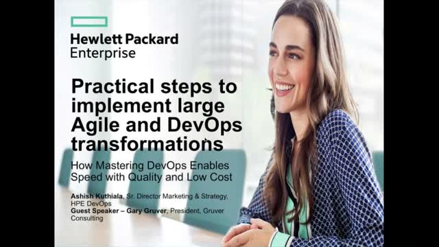 Practical steps to implement large Agile and DevOps transformations