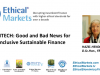 Fintech: Good and Bad News for Inclusive Sustainable Finance