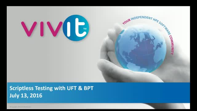Scriptless Testing with UFT & BPT