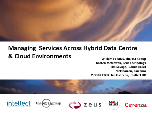 Managing Services Across Hybrid Data Center & Cloud Environments