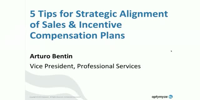Align your sales and incentive compensation plans with the business strategy