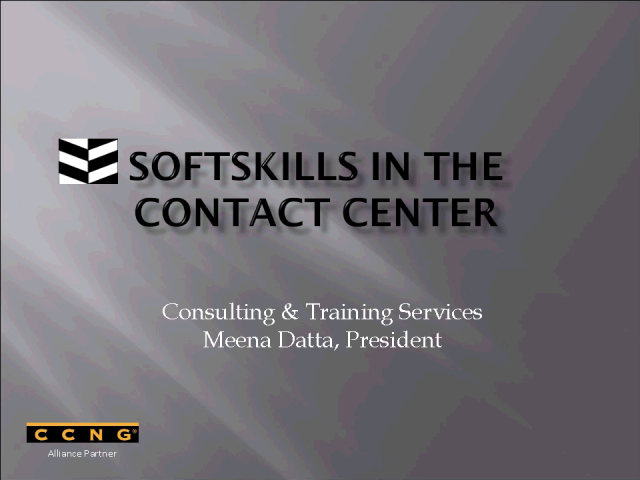 Introducing CCNG partner - Softskills, Meena Datta