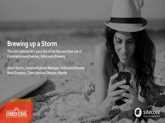 Brewing up a storm with Robinsons Brewery website