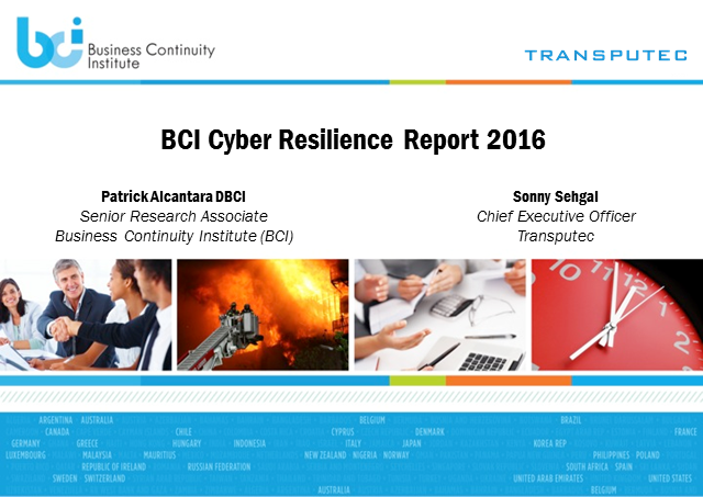 The lessons from the 2016 BCI Cyber Resilience Survey