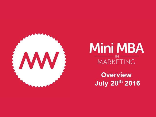 Applying the Mini-MBA in Marketing