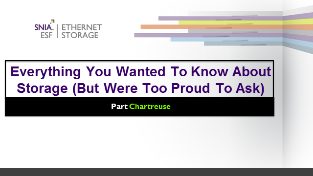 Everything You Wanted To Know About Storage But Were Too Proud To Ask/Chartreuse