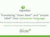 "Translating ""clean label"" and ""simple label"" into consumer language"
