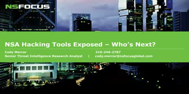 NSA Hacking Tools Exposed... Who's Next?
