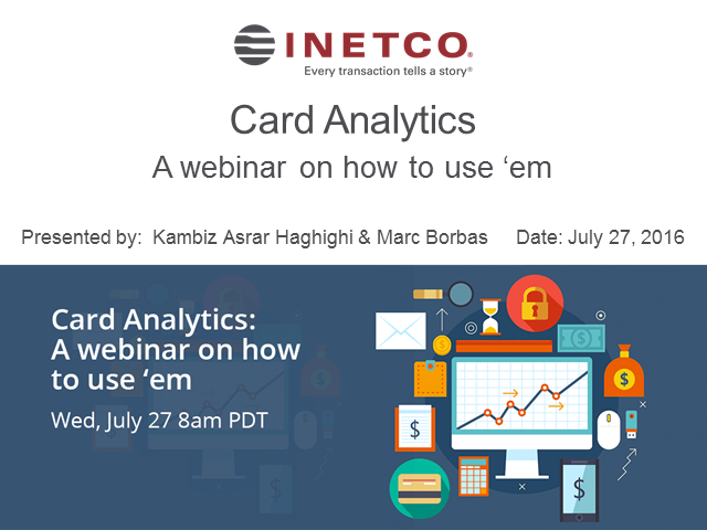 Banks Gone Digital: Card Analytics - A Webinar on How to Use 'Em