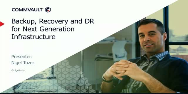 Backup & Recovery and DR for Next Generation Infrastructure