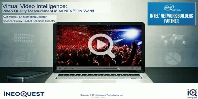 Virtual Video Intelligence: Video Quality Measurement in an NFV/SDN World