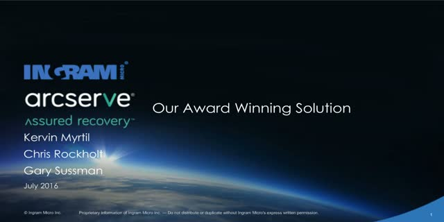 Arcserve's Award Winning Solution