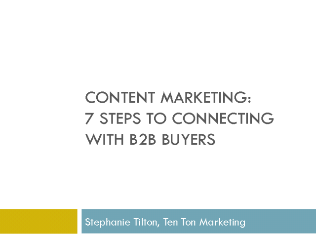 Content Marketing: 7 Steps to Connecting with B2B Buyers