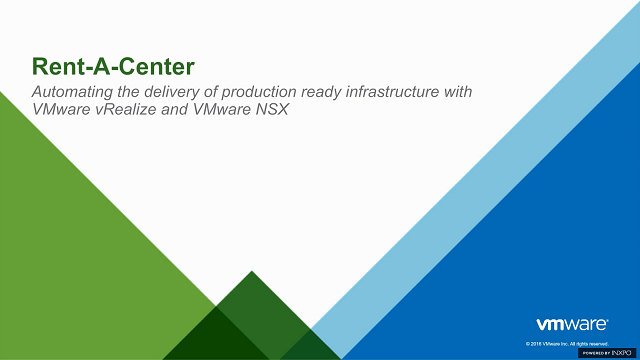 Automating the Delivery of Production Ready Infrastructure With VMware vRealize