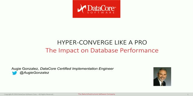 How hyper converged infrastructures transform databases