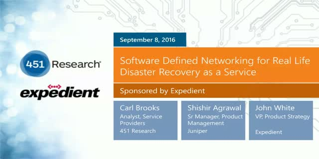 Software Defined Networking for Real Life Disaster Recovery as a Service