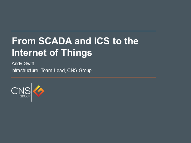 From SCADA and ICS to the Internet of Things