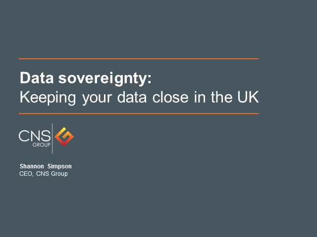 Data sovereignty: Keeping your data close in the UK